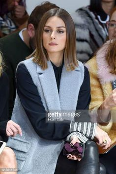 Model Olivia Palermo attends the front row for Noon by Noor during New York Fashion Week The Shows at Gallery II at Spring Studios on February 8 2018...