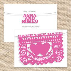 fiesta wedding save the date - printable file by i do it yourself