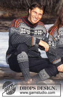 DROPS Jumper with pattern borders and socks in Karisma Superwash ~ DROPS Design Sweater Knitting Patterns, Knit Patterns, Free Knitting, Drops Design, Pull Jacquard, Norwegian Knitting, Magazine Drops, Nordic Sweater, Sacks