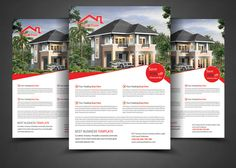 Real Estate Flyer Template by AfzaalGraphics on Creative Market