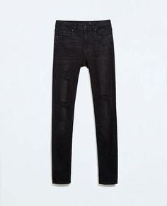 ZARA Superskinny Ripped Jeans