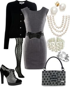"""""""work or Church outfit"""" by mickie-tucker ❤ liked on Polyvore"""