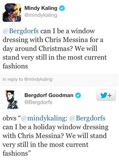 Mindy Kaling - Bergdorf tweets