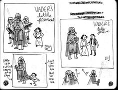 making process of darth vader and son by Jeffery Brown