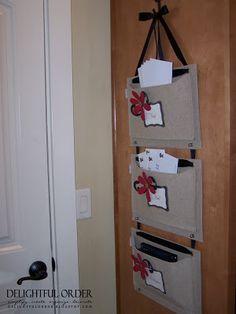 Cute DIY folder-space saver.. must do for my dorm!