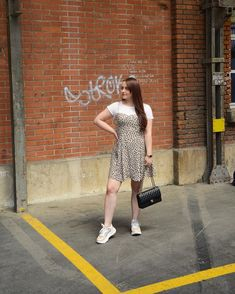 ROXANE - Style : Layering a mini dress with a white shirt underneath. Loving this cool Summer look. A mini dress with chunky sneakers and a black chanel bag. Loving this Spring/Summer 2019 look. Chunky Sneakers, Summer Looks, Spring Summer, Layering, Neutral, Outfit Ideas, Chanel, Shirts, Outfits
