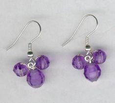 Purple Hidden Mickey Mouse Beaded Earrings by FoxyMomma on Etsy, $10.00