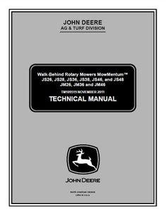Repair manual john deere 6405 6605 tractors john deere repair john deere js26 jm46 walk behind rotary mowers mowmentum service technical manual tm109519 fandeluxe Image collections