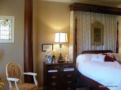 Master Bedroom @ BCH  DIY bedcrown - still love it