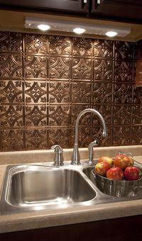 fasade traditional style 1 polished copper backsplash 18 inch x 24 inch panel. Black Bedroom Furniture Sets. Home Design Ideas