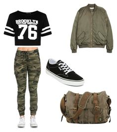 """Untitled #3"" by madkmckinnon ❤ liked on Polyvore featuring Boohoo and Vans"