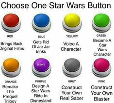 Choose one Star Wars Button here! #starwars