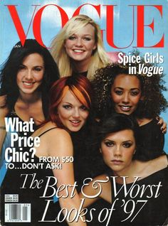 spice girls on the cover of Vogue magazine