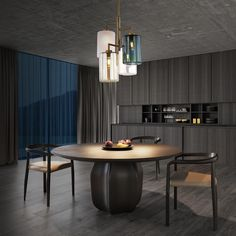 With its clean lines and pleasing rhythm of coloured lanterns, the Louise hanging lamp brings a sophisticated yet subtle style to any setting. The hand blown glass lanterns are available in four different colours and create a soft yet plentiful light. For more information about Louise, please visit our website! Modern Dining Room Lighting, Modern Lighting Design, Custom Lighting, Modern Room, Interior Lighting, Modern Design, Luxury Lighting, Modern Light Fixtures, Modern Pendant Light
