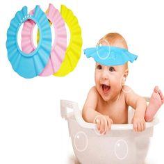 Kids Baby Child Adjustable Soft Waterproof Shield Shampoo Shower Bath Hat Cap Wi