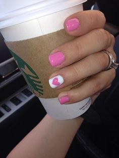 Heart | 15 Easy Valentines Day Nail Designs for Short Nails