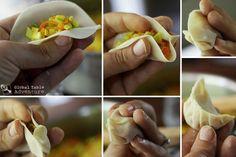 How to fold Nepali momos. (vegetarian)