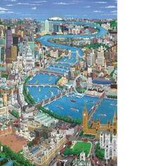 London The Thames Puzzle (2 sizes: 40, 250 pieces)