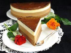 z cukrem pudrem: Sernik na zimno z trzema czekoladami - 1 urodziny bloga Panna Cotta, Ethnic Recipes, Blog