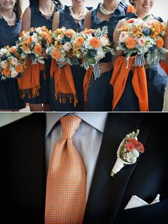 Preppy October Wedding From Hanna Floral Design   Style Me Pretty Nice AU colors