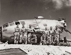 This B-29 made it back from a mission over Japan with only two good engines on the left side. Cannon fire disabled two engines on the right side, causing one of the propellers to spin off and slash a hole in the fuselage. The crew was still able to fly the crippled plane fifteen hundred miles back to Saipan at about five hundred feet above the ocean. Seventeen hours after they had taken off, they slammed down on the runway at Isley Field. The crew survuved