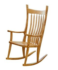 Greg's rocking chair comes in many woods but tiger maple is a favorite. Maple Furniture, Transitional Bedroom, Rocking Chair, Woods, Bedroom Decor, Carving, Home Decor, Chair Swing, Rocking Chairs