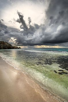 ~~Ominous ~ beachscape, Rottnest Island, Western Australia – a break in the stormy weather by Heather Prince ( Hartkamp )~~