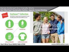 Hanes EcoSmart Eco Friendly Shirts Sustainable Fashion, Screen Printing, Eco Friendly, Cotton, Fashion Trends, Shirts, Screen Printing Press, Silk Screen Printing, Dress Shirts