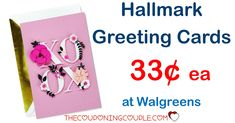 Get your Valentine Day's cards for cheap with a Walgreens deal! Pay only $0.33 per card!   Click the link below to get all of the details ► http://www.thecouponingcouple.com/hallmark-greeting-cards/ #Coupons #Couponing #CouponCommunity  Visit us at http://www.thecouponingcouple.com for more great posts!