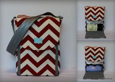 Love this one!  Half size Alana style Breast Pump Bag in Red chevron print by EllaAlana on Etsy