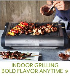Chefu0027s Choice Professional Indoor Electric Grill U201cBoasting 1500 Watts Of  Grilling Muscle And Porcelain Enamel Cooking Grates, This Power Packed  Indoor Grill ...
