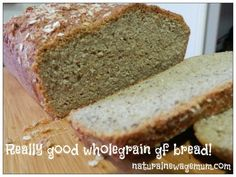 Really good wholegrain gluten-free bread! And Irish soda bread (yeast free) GF recipe given in comments too Gf Recipes, Almond Recipes, Gluten Free Recipes, Whole Food Recipes, Gluten Free Pizza, Gluten Free Baking, Dairy Free, Foods That Contain Gluten, Bread Ingredients