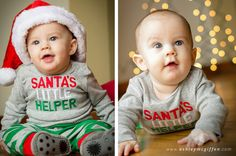 Christmas baby pictures  Santa's Little Helper www.ashleymcgiffen.com  ©Ashley McGiffen Photography