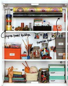 The perfect craft closet to wrap your way through the holidays, stress free...if only for extra closet space!