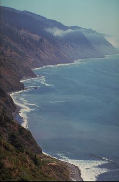 The Lost Coast.  The King Range National Conservation Area in California is the longest roadless coastal area in the lower 48 states.   http://www.blm.gov/ca/st/en/fo/arcata/kingrange/index.html