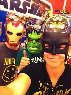 This what happens when you take luke calum and ashton to target