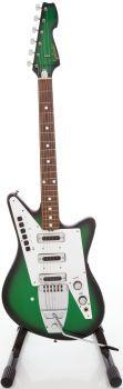 1960's Galanti Grand prix Green burst Solid Body Eliectic Guitar:::