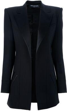 fe2f4ea4 This is not helping my blazer obsession Balmain Oversize Boxy Blazer in  Black - Lyst Balmain