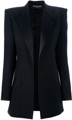 This is not helping my blazer obsession   Balmain Oversize Boxy Blazer in Black - Lyst