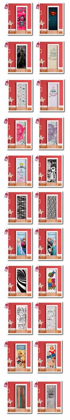 Vinilos Decorativos Para Puertas - Ploteos Personalizados - $ 490,00