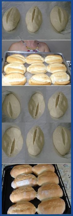 - How to make FRENCH BREAD HOME. Beat the dough for 10 minutes (can be made in the blender with the kneading hook ) to remove the dough from the sides of the bowl, sprinkling with flour. Take the bo … Pan Bread, Bread Cake, Bread Recipes, Cooking Recipes, Mexican Bread, Mini Pizza, Pan Dulce, Paleo Dessert, Sin Gluten