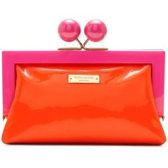 Hopper House Little Shyla - by Kate Spade. Another exciting use of this season's hot color block trend with a fuchsia and orange palette