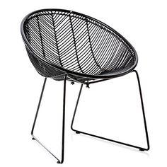 Cebu Rattan Oval Chair Black - Adairs $199.49