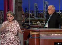 Roseann Barr with David Letterman. Roseanne Barr, Personality, David, Celebrity, Celebs, Famous People