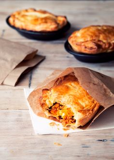 Moroccan Chicken Pie - Golden crisp pastry encasing a fragrant chicken filling with pumpkin and spices.