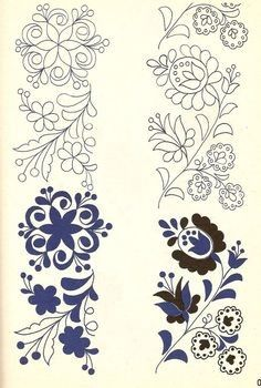 A magyar kultúra tanítása - Teaching Hungarian Culture Hungarian Embroidery, Folk Embroidery, Paper Embroidery, Learn Embroidery, Vintage Embroidery, Embroidery Sampler, Embroidery Supplies, Floral Embroidery, Embroidery Designs