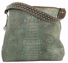 271e2a3d3af2 Turquoise Gator Big Tote - BT69 Double J saddlery Fashion Handbags