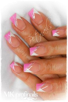 Fotogalerie - MK Profinails - My Style - Ongles French Nail Art, French Nail Designs, Pretty Nail Designs, French Tip Nails, Colorful Nail Designs, Fingernail Designs, Acrylic Nail Designs, Nail Art Designs, Fancy Nails