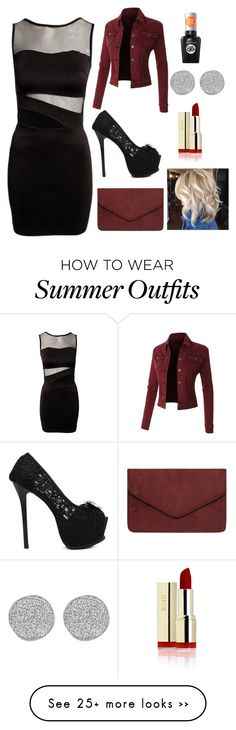 """""""My First Polyvore Outfit"""" by lizefouche on Polyvore featuring Dorothy Perkins, Sally Hansen and Karen Kane"""