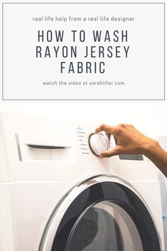 88062cbbb23f5 Designer Sarah Liller explains how to wash rayon jersey fabric. Good news -  it s easier